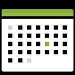 icon, calendar, stylized